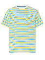 John Lewis Boy Mini Striped Contrast T-Shirt, Multi