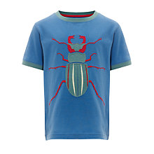 Buy John Lewis Boy Big Bug T-Shirt, Blue Online at johnlewis.com