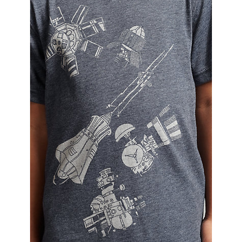 Buy John Lewis Boy Satellite T-Shirt, Grey Online at johnlewis.com