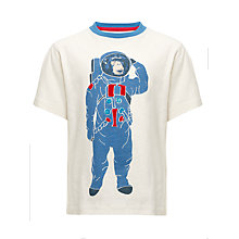 Buy John Lewis Boy Space Monkey T-Shirt, White Online at johnlewis.com