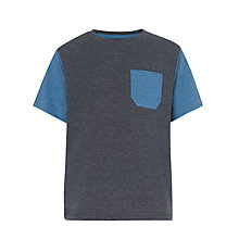 Buy John Lewis Boy Contrast T-Shirt, Grey/Blue Online at johnlewis.com