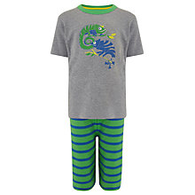 Buy John Lewis Boy Chameleon Shortie Pyjamas, Grey/Green Online at johnlewis.com
