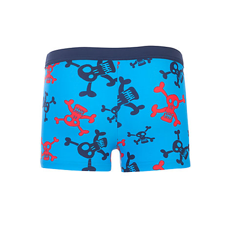 Buy John Lewis Boy Skull and Crossbones Swimming Trunks, Blue Online at johnlewis.com