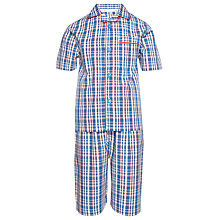 Buy John Lewis Boy Checked Shortie Pyjamas Online at johnlewis.com