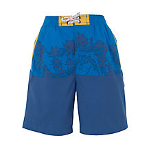 Buy John Lewis Boy Palm Trees Board Short, Blue Online at johnlewis.com