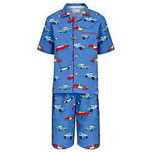 Buy John Lewis Boy Car Shortie Pyjamas, Blue Online at johnlewis.com