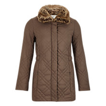Buy CC Petite Funnel Neck Jacket, Pebble Online at johnlewis.com