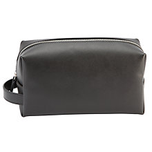 Buy John Lewis Made in Italy Saffiano Leather Wash Bag, Black Online at johnlewis.com