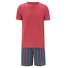 Buy John Lewis Crew Neck T-Shirt and Shorts Set, Red/Blue Online at johnlewis.com