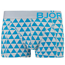 Buy Bjorn Borg Hawaiian Ocean Big Logo Trunks, Blue Online at johnlewis.com