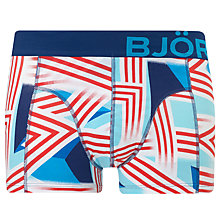 Buy Björn Borg Boom! Radience Big Logo Trunks, Blue/Red Online at johnlewis.com