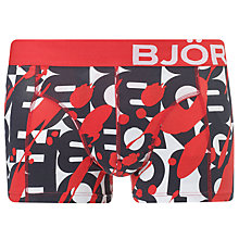 Buy Björn Borg Vandalise Big Logo Trunks, Red Online at johnlewis.com