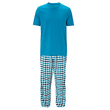 Buy John Lewis Jonny Short Sleeve T-Shirt and Lounge Pants, Teal Online at johnlewis.com