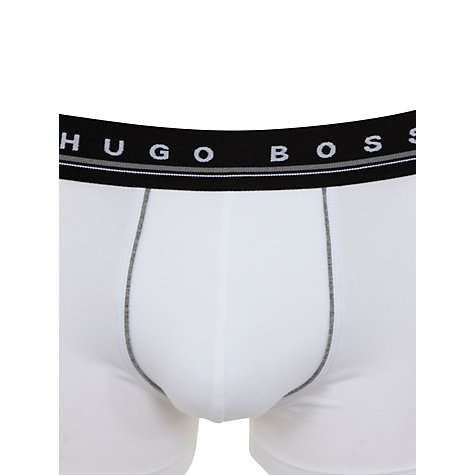 Buy BOSS Essential Trunks, White Online at johnlewis.com