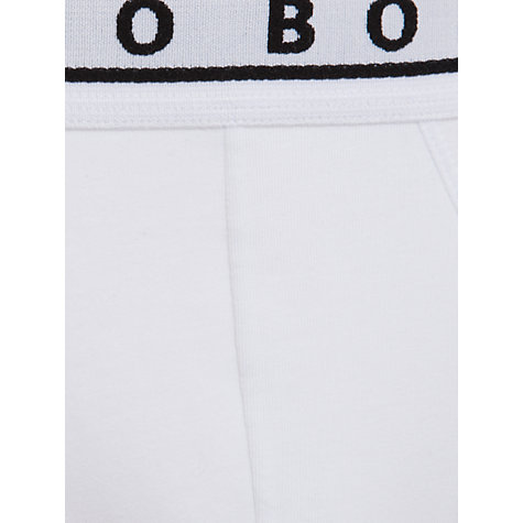 Buy BOSS Mini Stretch Briefs, Pack of 3, Black/Grey/White Online at johnlewis.com