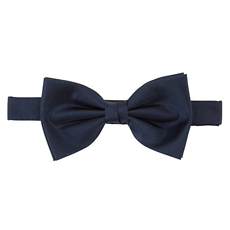 Buy John Lewis Silk Bow Tie, Navy Online at johnlewis.com