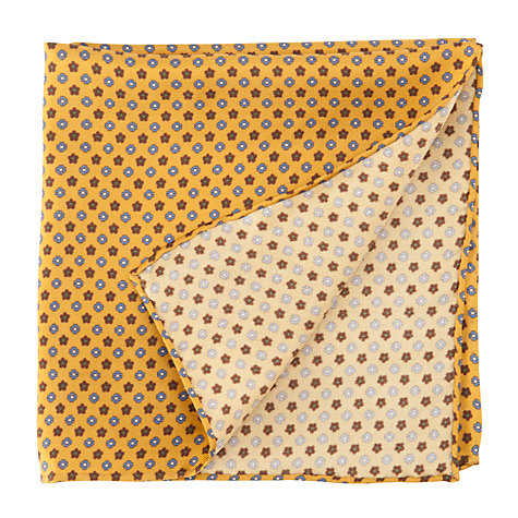 Buy John Lewis Print Pocket Square, Yellow/Blue Online at johnlewis.com