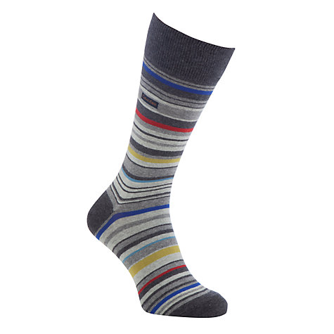 Buy Calvin Klein Barcode Stripe Socks Online at johnlewis.com