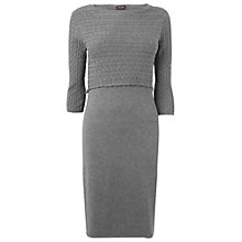 Buy Phase Eight Claire Cable Knit Dress, Charcoal Online at johnlewis.com