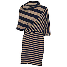 Buy James Lakeland Striped Knit Dress, Black/Nut Online at johnlewis.com