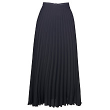 Buy James Lakeland Pleated Long Skirt, Black Online at johnlewis.com