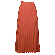 Buy James Lakeland Pleated Long Skirt, Orange Online at johnlewis.com