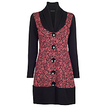 Buy James Lakeland Jacquard Cardigan, Black/Fuchsia Online at johnlewis.com