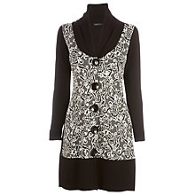 Buy James Lakeland Long Cardigan, Black/White Online at johnlewis.com
