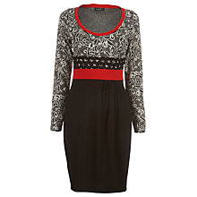 Buy James Lakeland Mixed Jacquard Dress, Cream/Black Online at johnlewis.com