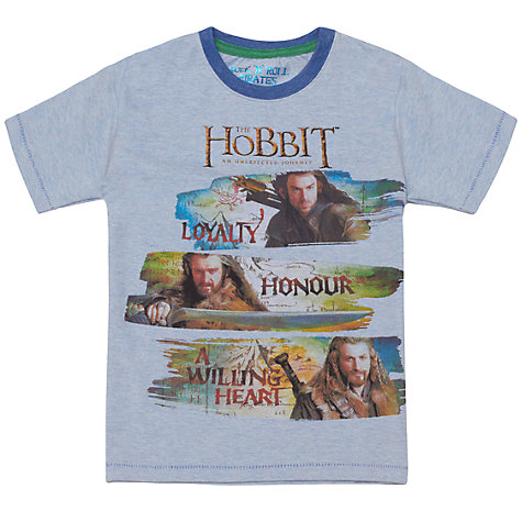 Buy The Hobbit T-Shirt, Blue Online at johnlewis.com