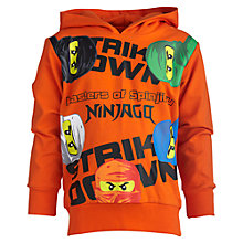 Buy Lego Ninjago Hoodie, Orange Online at johnlewis.com