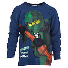 Buy LEGO Ninjago Character Long Sleeved Top, Navy Online at johnlewis.com