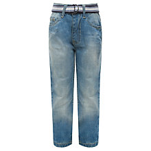 Buy John Lewis Boy Loose Fit Jeans with Belt, Denim Online at johnlewis.com