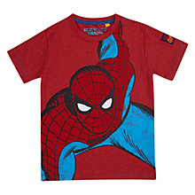 Buy Spider-Man Crouching T-Shirt, Red Online at johnlewis.com