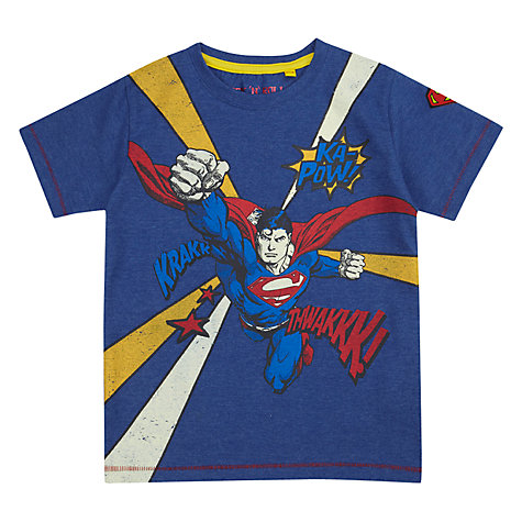 Buy Superman Ka-Pow T-Shirt, Blue Online at johnlewis.com