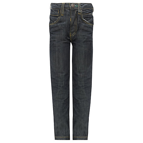 Buy John Lewis Boy Twisted Dark Denim Jeans, Blue Online at johnlewis.com