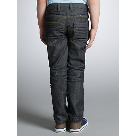 Buy John Lewis Boy Twisted Denim Jeans, Dark Blue Online at johnlewis.com