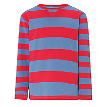 Buy John Lewis Boy Striped Long Sleeved Crew Neck T-Shirt Online at johnlewis.com