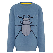 Buy John Lewis Boy Beetle Jumper, Blue Online at johnlewis.com