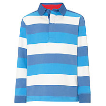Buy John Lewis Boy Bold Striped Rugby Shirt, Blue/White Online at johnlewis.com