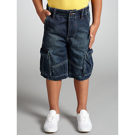 Buy John Lewis Boy Cargo Shorts, Denim Online at johnlewis.com