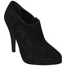 Buy Dune Namora Suede Stiletto Heel Ankle Boots, Black Online at johnlewis.com