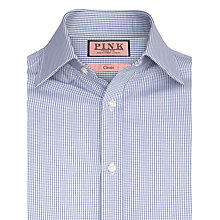 Buy Thomas Pink XL Sleeves Vienna Check Shirt, Blue Online at johnlewis.com