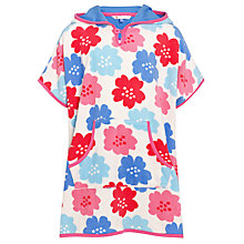 Buy John Lewis Girl Floral Towelling Poncho, Multi Online at johnlewis.com
