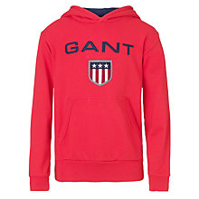 Buy Gant Shield Hoodie, Red Online at johnlewis.com
