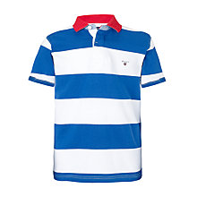 Buy Gant Chunky Striped Polo Shirt, Blue/White Online at johnlewis.com