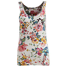 Buy Joules Fifi Jersey Vest Top, Creme Floral Online at johnlewis.com