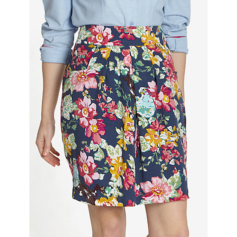 Buy Joules Sunbird Floral Elisa Skirt, Navy Floral Online at johnlewis.com