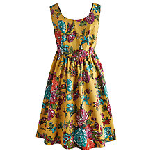 Buy Joules Maude Floral Dress, Yellow Online at johnlewis.com