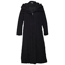 Buy Chesca Seamed Coat, Black Online at johnlewis.com
